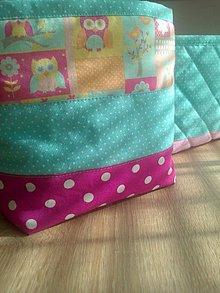 Textil - Textilný košík*sovička* - 7121373_