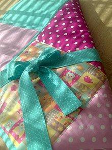 Textil - Patchwork detská zavinovačka..sovička* - 7121411_