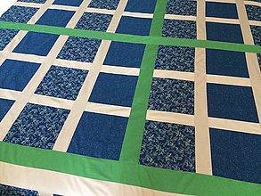 Úžitkový textil - Teplá prešívaná deka na chalúpku ♥ - 7121076_