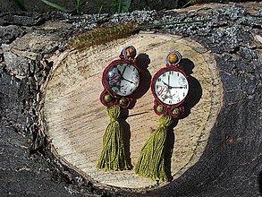 Náušnice - Čas na Paríž, čas na jeseň, soutache náušnice - 7123155_