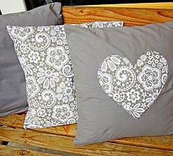 Úžitkový textil - Šedé variácie II obliečky - 7123016_