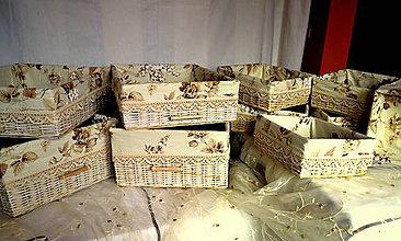 Košíky - Koše vyskladané pre Svetlanku II./súprava - 7122072_