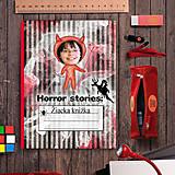 Papiernictvo - Hororová žiacka knižka pruhy - 7121902_