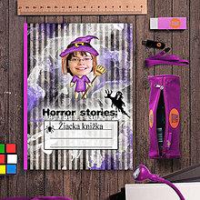 Papiernictvo - Hororová žiacka knižka pruhy (čarodejnica/ježibaba) - 7121552_