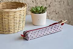 Taštičky - Srdiečkový peračník z bavlnených látok - 7125030_