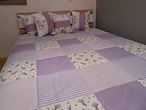 Úžitkový textil - prehoz na posteľ  120 x 200 cm levanduľa  (deka s fotkami) - 7126602_
