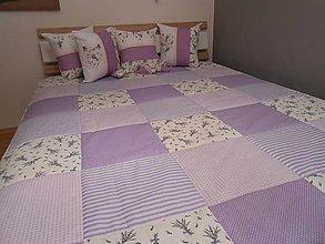 Úžitkový textil - prehoz na posteľ  120 x 200 cm levanduľa - 7126602_