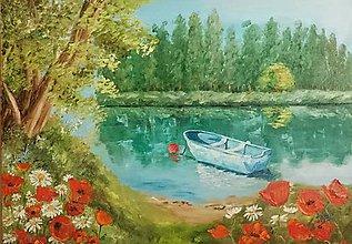 Obrazy - Leto pri jazere - 7124911_