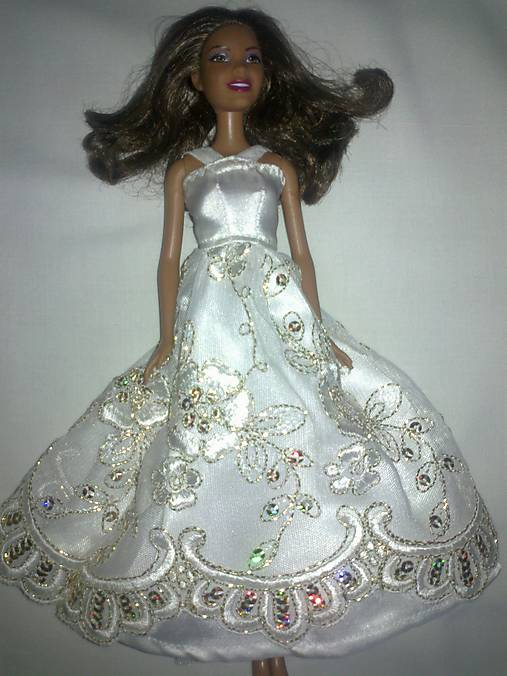 Krajkové svadobné šaty pre BARBIE   TrishaFate - SAShE.sk - Handmade ... 0ca66841775