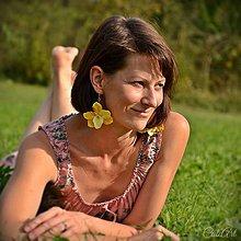 Náušnice - Slnečná orchidea - náušnice - 7125947_