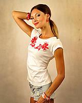 Tričká - Zvýhodnená sada: tričko + náušnice Folk - 7125487_