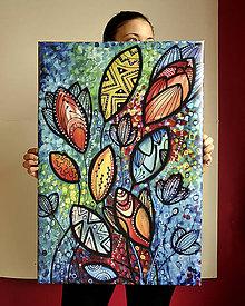 Obrázky - Print natiahnutý na ráme - Lucid Garden - 7126220_