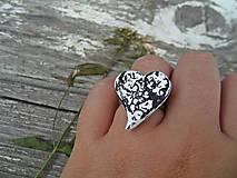 Prstene - Vintage srdiečko - 7124748_