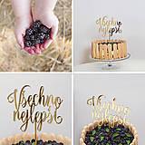 Dekorácie - VŠETKO NAJLEPŠIE zápich na tortu - 7125035_