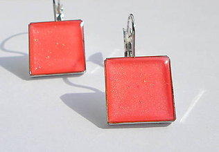 Náušnice - Ružovééé2 - 7124230_