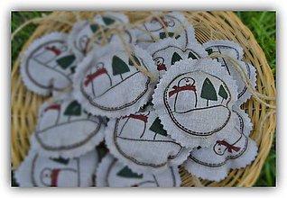 Dekorácie - Vianočné ozdoby - snehuliačik na stromček 13ks - 7129601_