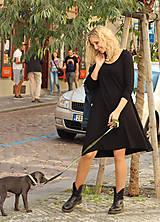 Šaty - Černé zvonové šaty s dlouhým rukávem - 7128250_