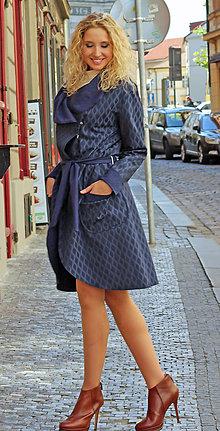 Kabáty - Modrý kardigan - 7127890_