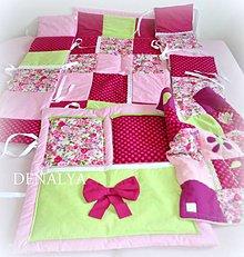 Textil - Sada Flóra pre postieľku 120x60cm - 7129873_
