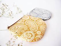 - Peňaženka - kašmírový vzor zlatý - 7128293_