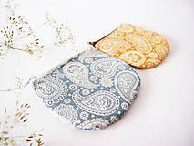 - Peňaženka - kašmírový vzor modrý - 7128299_