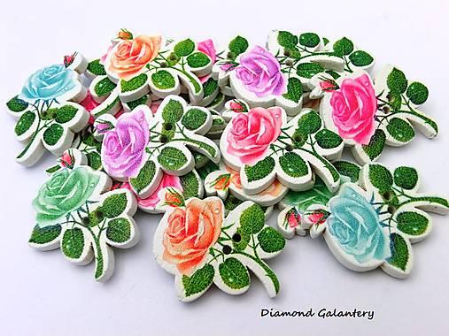 030aab2562e5 Drevený gombík - ruže   diamond galantery - SAShE.sk - Handmade ...