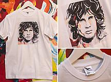 Tričká - Unisex tričko (Adler) Jim Morrison biele - 7129105_