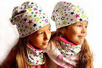 Detské čiapky - Bavlnená čiapka hviezda & fresh - 7129862_