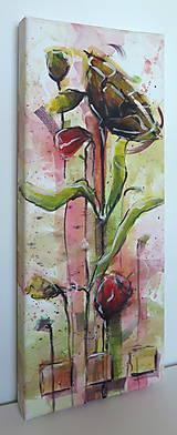 Obrazy - Červené maky ( štvor  obraz) - 7128832_