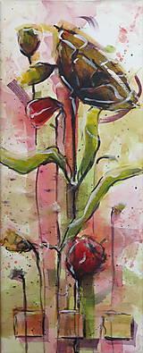 Obrazy - Červené maky ( štvor  obraz) - 7128834_