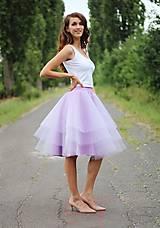 Sukne - Tylová sukňa volánová lila - 7130150_