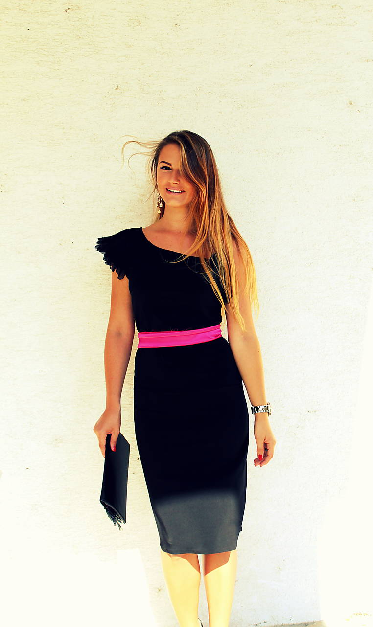 dd951170aa5d Black little coctaill dress   gk - SAShE.sk - Handmade Šaty