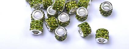 Korálky - Pandora šaton - zelená - 7131211_