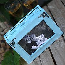 Rámiky - DREVENÝ FOTOALBUM MEDITERAN BLUE - 7130471_