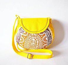 Kabelky - Malá žltá kabelka z folkovej kolekcie - 7132057_