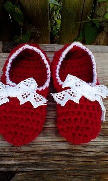 Obuv - Detské papuče-bordo - 7133104_