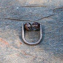 Prstene - Strieborný prsteň - Na stopke02 - 7132663_