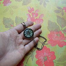 Náhrdelníky - Libellule Turquoise  - náhrdelník 25 mm - 7131536_
