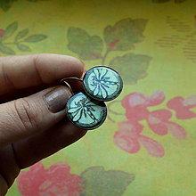 Náušnice - Libellule Turquoise - mechanické náušnice 20 mm - 7131552_