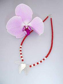 Náhrdelníky - koral perly náhrdelník