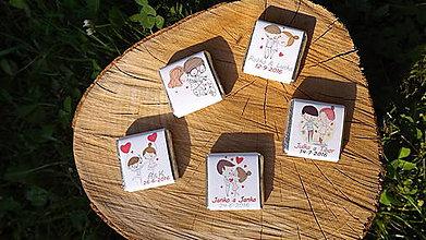 Darčeky pre svadobčanov - Svadobné čokoládky AMOR - 7133403_