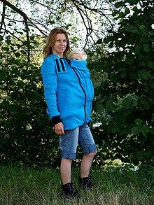 Mikiny - Nosiace mikiny, modrá, ružová, čierna, limetkovo-zelená - 7132403_
