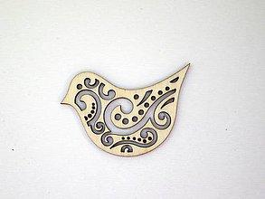 Polotovary - Drevený vtáčik - 7132738_