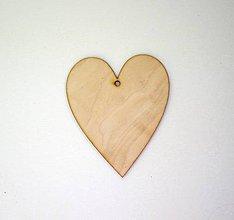 Polotovary - Drevený výrez- Srdce klasik 10x8 cm - 7133288_