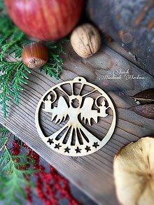 Dekorácie - Vianočný výrez Anjel (A2) - 7130294_