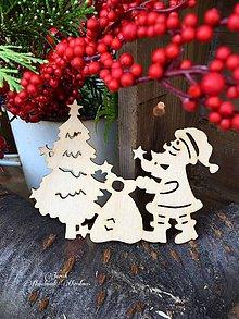 Polotovary - Vianočný výrez Dedo Mráz (B9) - 7133655_