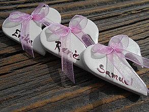 Darčeky pre svadobčanov - keramické menovky na poháre - 7132937_