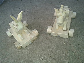 Hračky - zvieratká na ťahanie alebo tlačenie - 7131424_