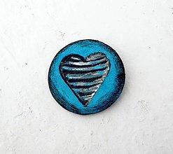Odznaky/Brošne - Brošňa z kože - 7131002_