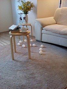 Úžitkový textil - Veľký okrúhly koberec 100% bavlna - 160 cm - 7131128_